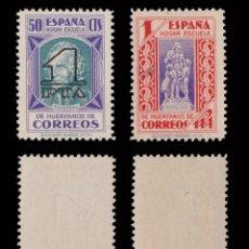 Selos: BENEFICENCIA.1938.PEDAGOGOS HABILITADO.SERIE.MNH.EDIFIL .27-28. Lote 232878510