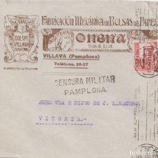 Sellos: CENSURA MILITAR DE PAMPLONA. Lote 233142950