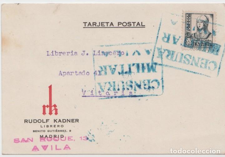 CENSURA MILITAR AVILA (Sellos - España - Guerra Civil - De 1.936 a 1.939 - Cartas)