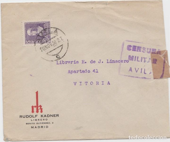 CENSURA MILITAR DE AVILA (Sellos - España - Guerra Civil - De 1.936 a 1.939 - Cartas)