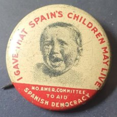 Sellos: PIN NORTH AMERICAN COMMITTEE TO AID SPANISH DEMOCRACY. Lote 233380695