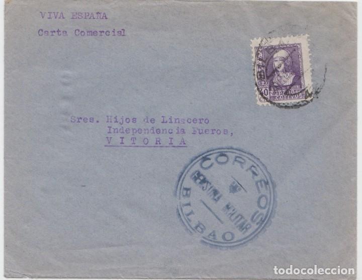 CENSURA MILITAR BILBAO (Sellos - España - Guerra Civil - De 1.936 a 1.939 - Cartas)
