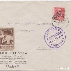 Sellos: CENSURA MILITAR VIZCAYA - BILBAO. Lote 234322335