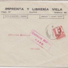Sellos: CENSURA MILITAR DE HARO - LOGROÑO. Lote 234322790