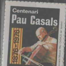 Sellos: LOTE (3)-SELLO VIÑETA PAU CASALS EL VENDRELL. Lote 234368885