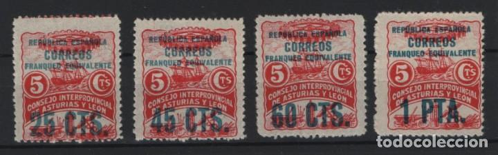 BAU.15/ ASTURIAS Y LEON, EDIFIL 9/11, CATALOGO 19,75 € (Sellos - España - Guerra Civil - De 1.936 a 1.939 - Nuevos)