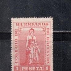 Sellos: COLEGIO DE HUÉRFANOS DE HACIENDA. 1 PTA.. Lote 234494585