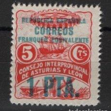 Francobolli: TV_001.B1 / ESPAÑA EN NUEVO**, ASTURIAS Y LEON, 1 PTAS.. Lote 234543650
