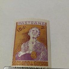 Sellos: VIÑETA GUERRA CCIVIL SELLO SOCORRO DE GUERRA, PASTRANA, GUADALAJARA 10 CTS.. Lote 234560150