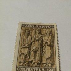 Sellos: GUERRA CIVIL -VIÑETA AÑO SANTO COMPOSTELA 1937 ROEL CORUÑA. Lote 234561940