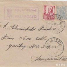 Sellos: CENSURA MILITAR DE VILLARCAYO - BURGOS. Lote 234711830