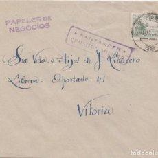 Sellos: CARTA FRANQUEO IMPRESOS - CENSURA MILITAR DE SANTANDER. Lote 234714905