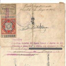 Sellos: NOTERIOS DE SEVILLA. LEGALIZACIONES 7MAY42. Lote 235001265