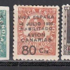 Sellos: CANARIAS, 1936-37 EDIFIL Nº 4A / 7 /*/, SELLOS REPUBLICANOS HABILITADOS.. Lote 235082650
