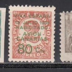 Sellos: CANARIAS, 1937 EDIFIL Nº 9 / 10 /*/, SELLOS REPUBLICANOS HABILITADOS.. Lote 235084970