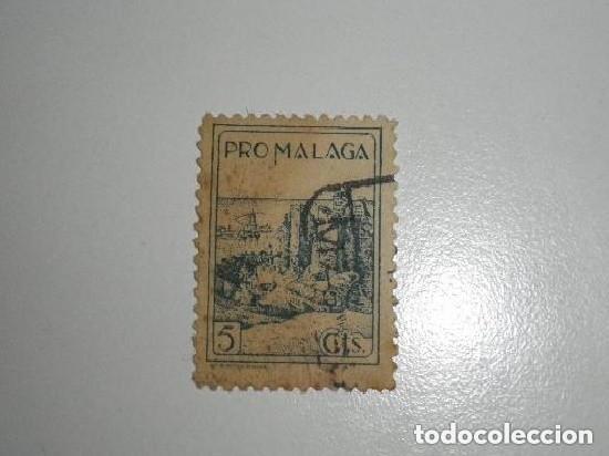 PRO MALAGA 5 CENTIMOS SELLO USADO (Sellos - España - Guerra Civil - De 1.936 a 1.939 - Usados)