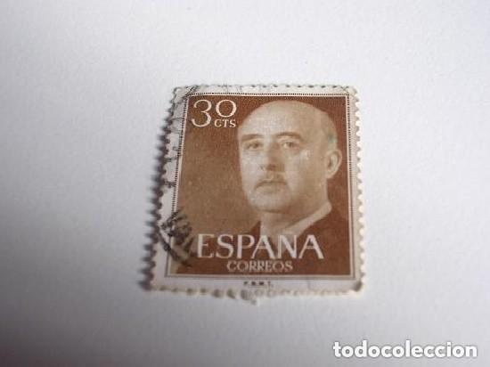 FILATELIA SELLO DE 30 CTS DE FRANCO (Sellos - España - Guerra Civil - De 1.936 a 1.939 - Usados)