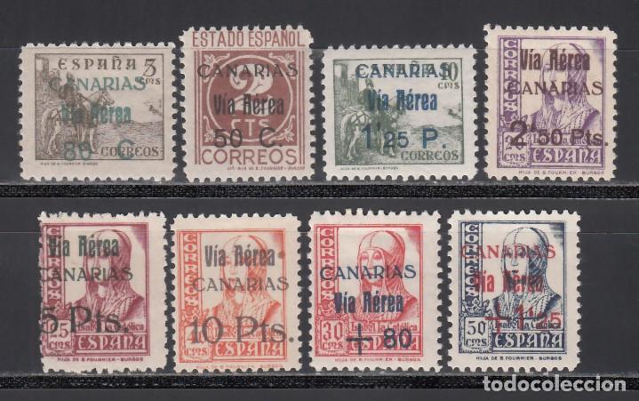 CANARIAS, 1937-38 EDIFIL Nº 44 / 51 **/* (Sellos - España - Guerra Civil - Locales - Nuevos)