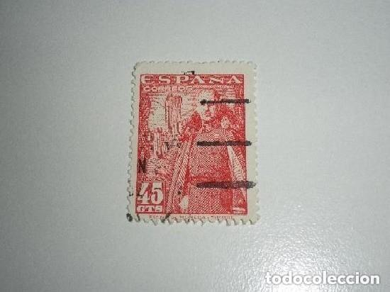 ESPAÑA 45 CÉNTIMOS USADO - FRANCO (Sellos - España - Guerra Civil - De 1.936 a 1.939 - Usados)
