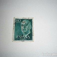 Sellos: ESPAÑA SELLO DE FRANCO DE 80 CÉNTIMOS. Lote 235169075