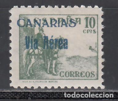 CANARIAS, 1938 EDIFIL Nº 46HE, /**/, FALTA EL VALOR, 1,25 P. SIN FIJASELLOS. (Sellos - España - Guerra Civil - Locales - Nuevos)