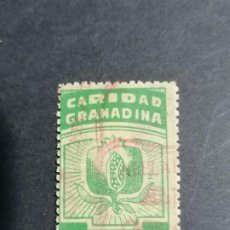 Sellos: ESPAÑA CARIDAD GRANADA GUERRA CIVIL VIÑETAS USADO V1-2 FESOFI 61 CARIDAD GRANADINA. Lote 235543180