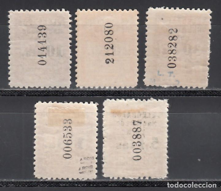 Sellos: BARCELONA, Telégrafos 1930 EDIFIL Nº 4 / 8 /*/ - Foto 2 - 235566495