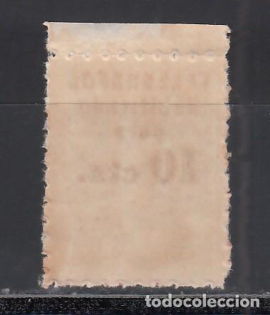 Sellos: BARCELONA, Telégrafos 1942-1945 EDIFIL Nº 18hcc /**/, Cambio de Color en la Habilitación, Rojo - Foto 2 - 235573525