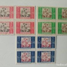 Sellos: BENEFICENCIA DEL AÑO 1937 EN BL4 EDIFIL 9/11 EN NUEVO**. Lote 236005760