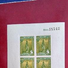 Sellos: GUERRA CIVIL ESPAÑOLA. VINEBRE (TARRAGONA). GESTES HISTÒRIQUES CATALUNYA 1714-193, RAFAEL CASANOVA. Lote 236093515