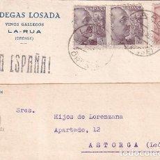Sellos: BODEGAS LOSADA VINOS GALLEGOS LA RUA ORENSE. 1940. Lote 236128990