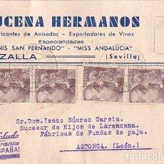 Sellos: LUCENA HERMANOS. ANIS SAN FERNANDO. CAZALLA. ANIS SAN FERNANDO Y MISS ANDALUCIA. 1940 FRANCO. Lote 236132410