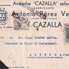 Sellos: ANISADOS CAZALLA ANTONIO PÉREZ VEGA. CAZALLA. FRANCO 1938 GUERRA CIVIL.. Lote 236132855