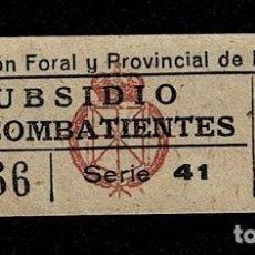 Francobolli: A3-6 GUERRA CIVIL DIPUTACION FORAL Y PROVINCIAL DE NAVARRA SUBSIDIO PRO COMBATIENTES FESOFI Nº 11 VA. Lote 236148780