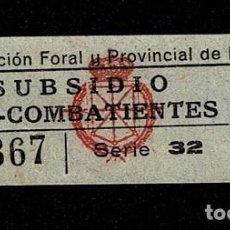 Sellos: A3-6 GUERRA CIVIL DIPUTACION FORAL Y PROVINCIAL DE NAVARRA SUBSIDIO PRO COMBATIENTES FESOFI Nº 12 VA. Lote 236149010