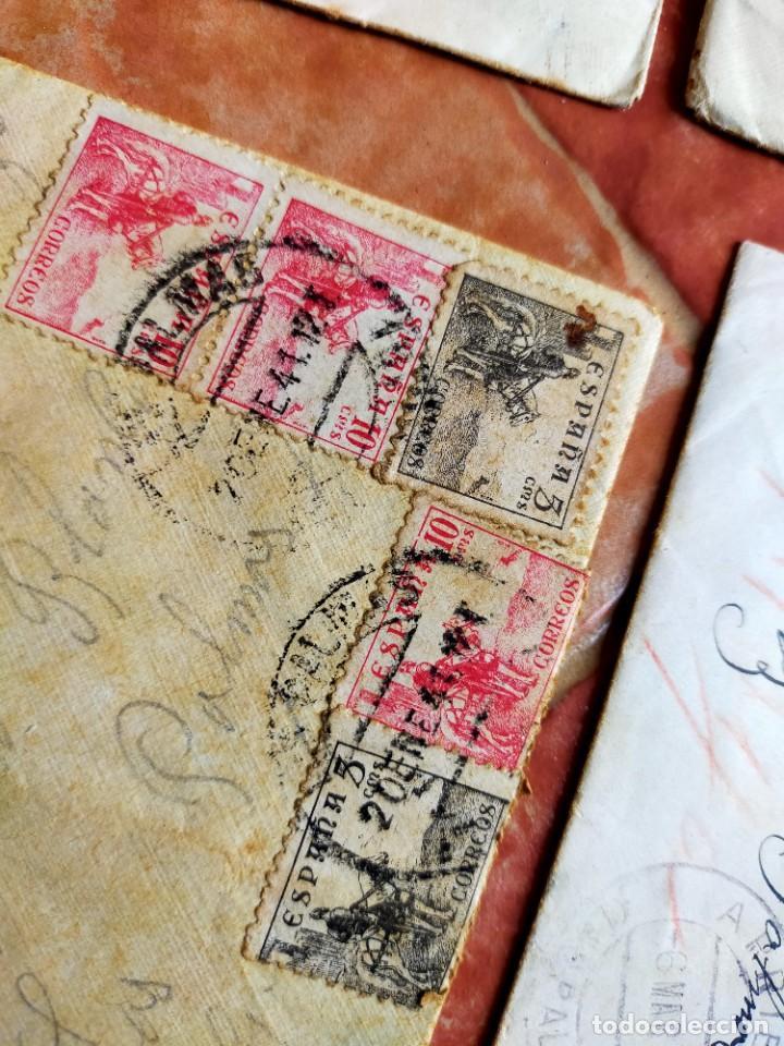 Sellos: Lote 10 Cartas antiguas censura Militar España Pamplona Arrecife - Islas Canarias - Foto 4 - 236704790