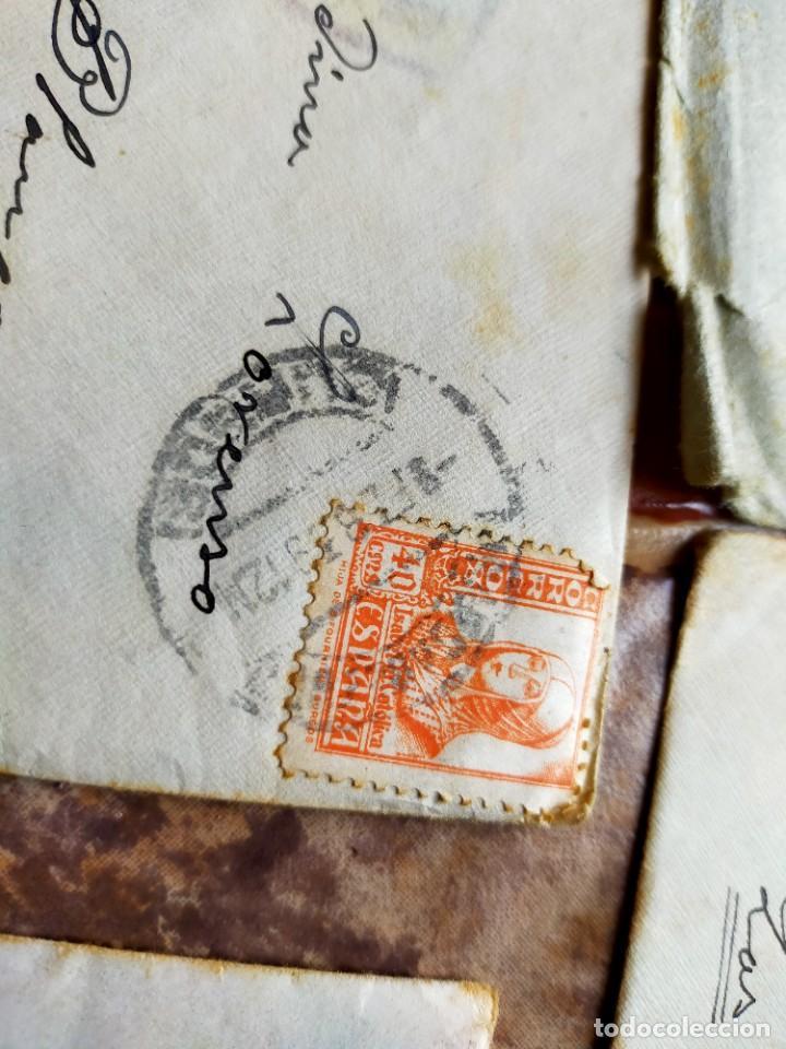 Sellos: Lote 10 Cartas antiguas censura Militar España Pamplona Arrecife - Islas Canarias - Foto 6 - 236704790