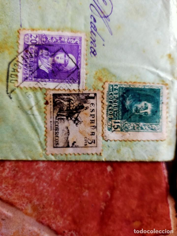 Sellos: Lote 10 Cartas antiguas censura Militar España Pamplona Arrecife - Islas Canarias - Foto 8 - 236704790