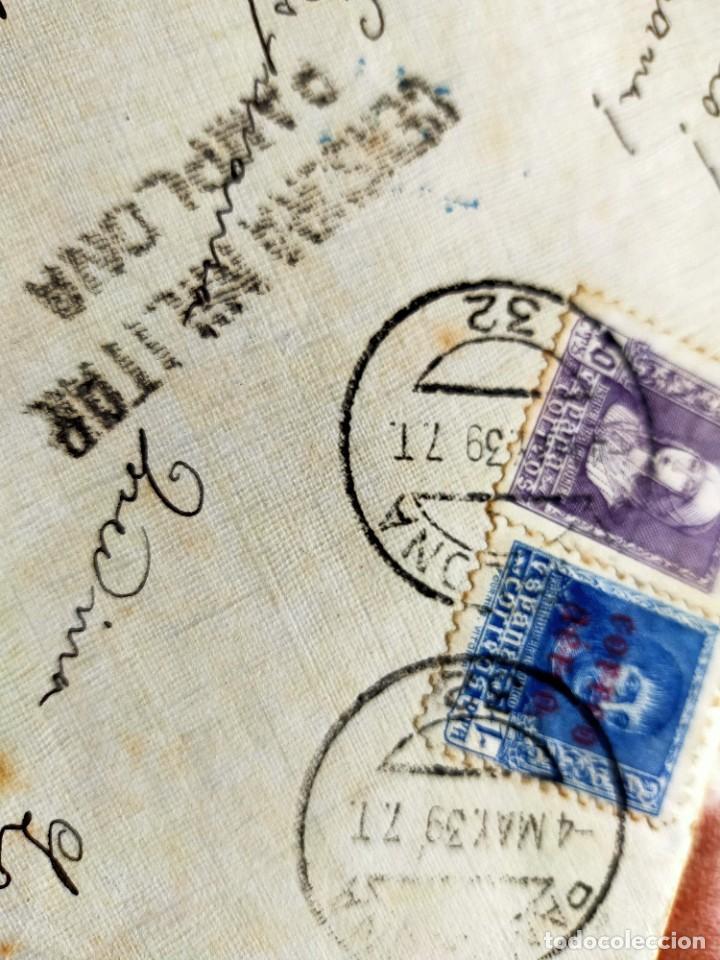Sellos: Lote 10 Cartas antiguas censura Militar España Pamplona Arrecife - Islas Canarias - Foto 11 - 236704790
