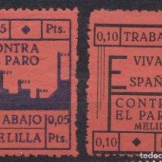 Timbres: MELILLA - CPONTRA EL PARO. Lote 236766125