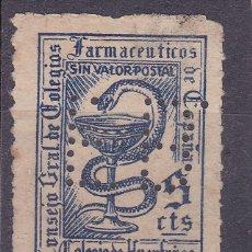 Timbres: JJ6- FISCALES FARMACIA 5 CTS PERFORADO F.B.. Lote 236841720