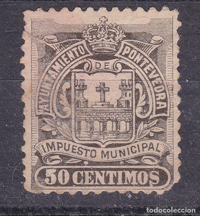 JJ5- FISCALES LOCALES .TIMBRE MUNICIPAL PONTEVEDRA 50 CTS (Sellos - España - Guerra Civil - Viñetas - Nuevos)