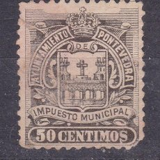 Sellos: JJ5- FISCALES LOCALES .TIMBRE MUNICIPAL PONTEVEDRA 50 CTS. Lote 236883285