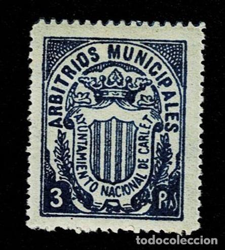 Sellos: CL8-2 Fiscal CARLET ARBITRIOS MUNICIPALES Valor 3 ptas Color AZUL - Foto 1 - 236999225