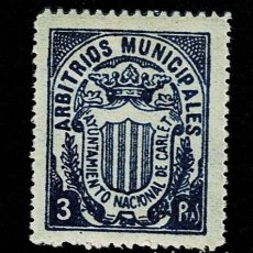 Sellos: CL8-2 FISCAL CARLET ARBITRIOS MUNICIPALES VALOR 3 PTAS COLOR AZUL. Lote 236999225