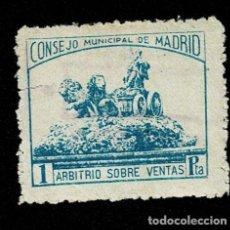 Sellos: CL8-3 GUERRA CIVIL MADRID FUENTE DE LA CIBELES DENTADO FESOFI Nº 70 USADO.. Lote 237032155