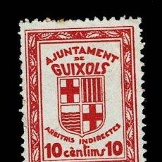 Sellos: CL8-4 GUERRA CIVIL AJUNTAMENT DE GUIXOLS ARBITRIS INDIRECTES FESOFI Nº 1 VALOR 10 CENTIMS COLOR ROJO. Lote 237033480