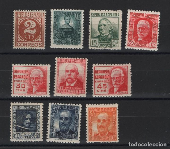 R12.G4/ ESPAÑA 1936-38, EDIFIL 731/40 MNH**, CIFRA Y PERSONAJES, CATALOGO 42,00 € (Sellos - España - Guerra Civil - De 1.936 a 1.939 - Nuevos)