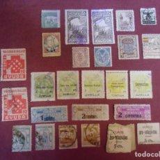 Sellos: LOTE DE 26 VIÑETAS VARIAS; GUERRA CIVIL, CNS, MUTUALIDADES, ETC. Lote 237353030