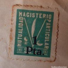 Sellos: MUTUALIDAD MAGISTERIO PARTICULAR. SELLO 1 PTA. Lote 237515315